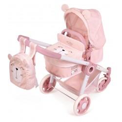 Passeggino per Bambole Pieghevole Animaletti Little Pet 3x1 di De Cuevas Toys 80539