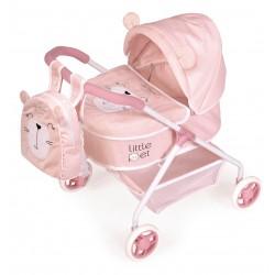 Passeggino per Bambole Il Mio Primo Passeggino Animaletti Little Pet De Cuevas Toys 86039
