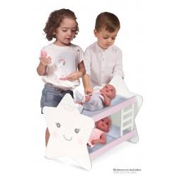 Letto a Castello Legno per Bambole Martín DeCuevas Toys 55329 | DeCuevas Toys