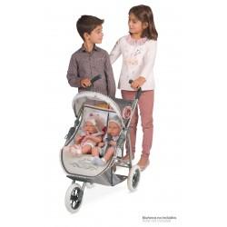 Passeggino per Bambole Pieghevole Gemellare Reborn DeCuevas Toys 90331 | DeCuevas Toys