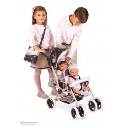 Passeggino per Bambole Sedia Gemellare Pieghevole Top Collection DeCuevas Toys 90332 | DeCuevas Toys
