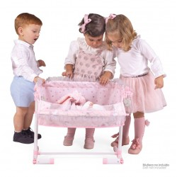 Culla per Bambole Regolabile Dormi Con me Magic María DeCuevas Toys 51234 | DeCuevas Toys