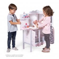 Armadio Legno Fasciatoio per Bambole Sky DeCuevas Toys 54835 | DeCuevas Toys