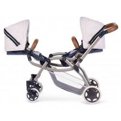 Passeggino per Bambole Gemellare Pieghevole Top Collection 80337 | DeCuevas Toys